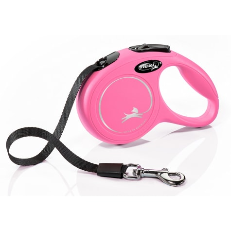 Flexi Classic Retractable Dog Leash in Pink, 10'