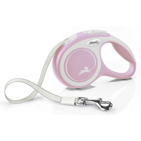 Flexi Comfort Retractable Dog Leash in Pink, 10'