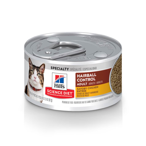 Hill's Science Diet Adult Hairball Control Savory Chicken Entree Canned Wet Cat Food