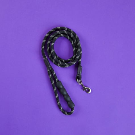 Good2Go Reflective Braided Rope Leash in Black