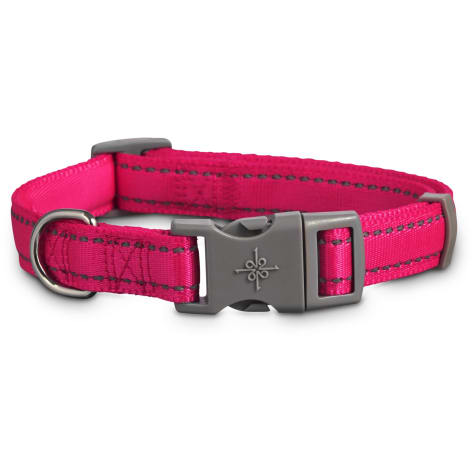 Good2Go Reflective Adjustable Padded Dog Collar in Pink