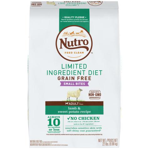 Nutro Limited Ingredient Diet Small Bites Lamb & Sweet Potato Recipe Dry Adult Dog Food