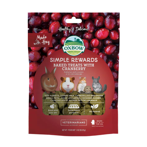 Oxbow Simple Rewards Cranberry Baked Treat