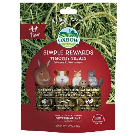 Oxbow Simple Rewards Timothy Baked Small Animal Treats