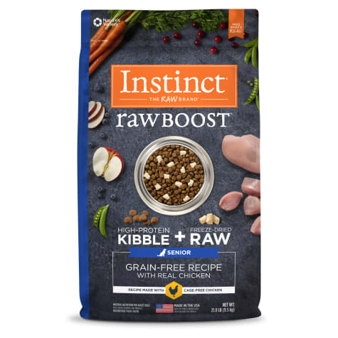 Instinct Raw Boost Senior Grain-Free Recipe with Real Chicken Dry Dog Food with Freeze-Dried Raw Pieces