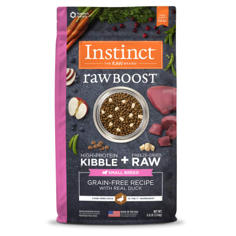 Instinct Raw Boost Small Breed Grain-Free Recipe with Real Duck Dry Dog Food with Freeze-Dried Raw Pieces