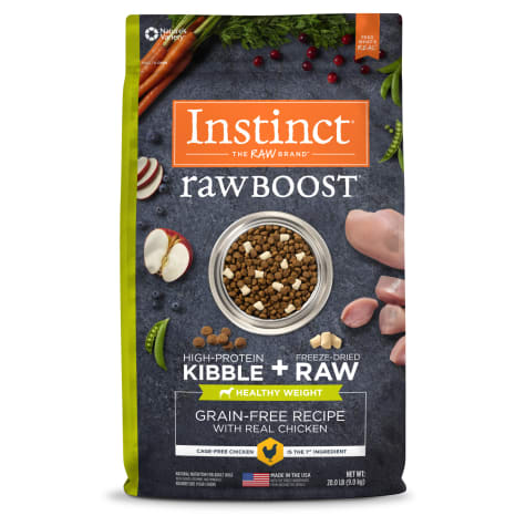Instinct Raw Boost Healthy Weight Grain-Free Chicken Recipe Dry Dog Food with Freeze-Dried Raw Pieces