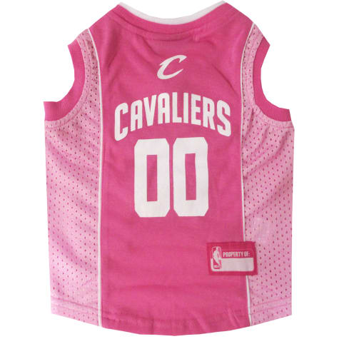 Pets First Cleveland Caveliers Pink Jersey