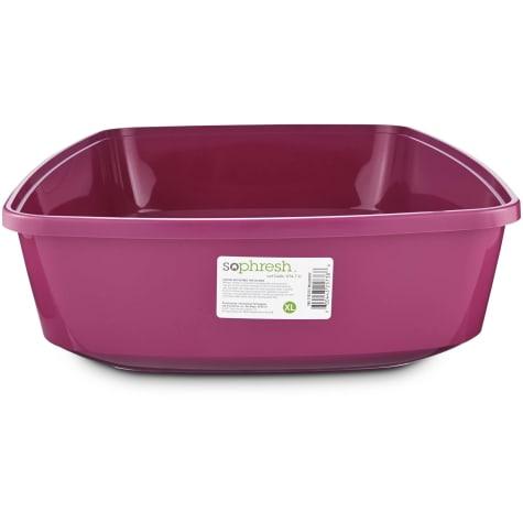 So Phresh Mulberry Open Cat Litter Box