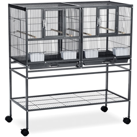 Prevue Pet Products Hampton Deluxe Divided Breeder Cage System with Stand