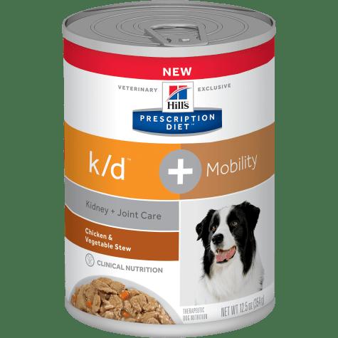 Hill's Prescription Diet k/d Kidney Care + Mobility Chicken & Vegetable Stew Flavor Canned Dog Food