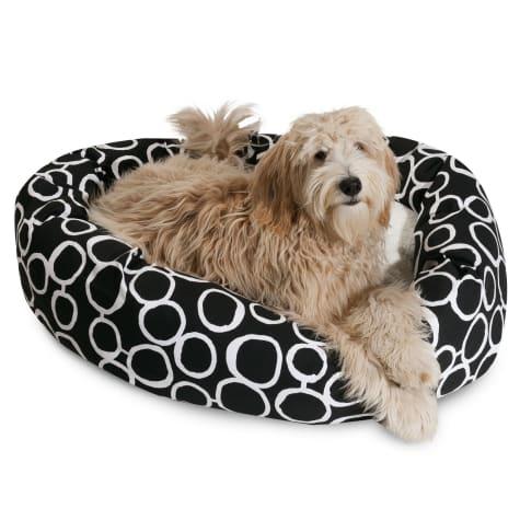 Majestic Pet Fusion Black Sherpa Bagel Dog Bed