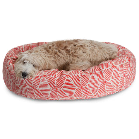 Majestic Pet Charlie Salmon Sherpa Bagel Dog Bed