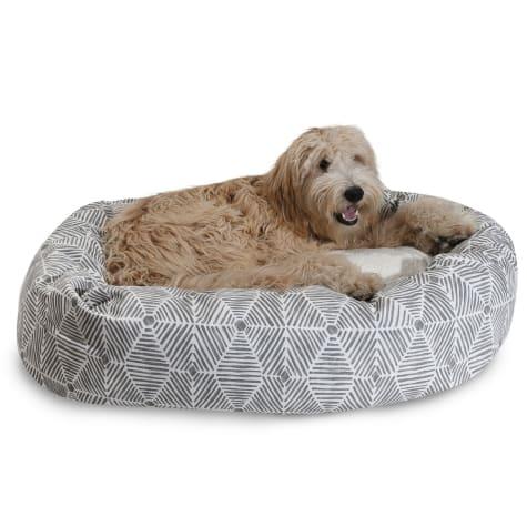 Majestic Pet Charlie Gray Sherpa Bagel Dog Bed