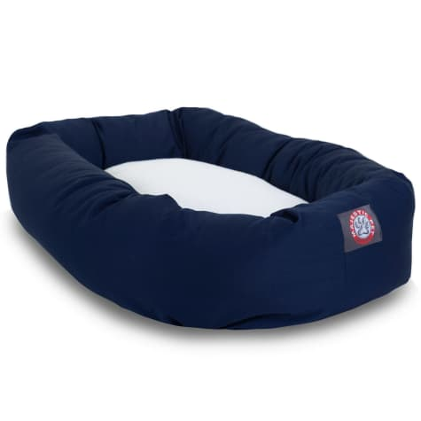 Majestic Pet Blue & Sherpa Bagel Dog Bed