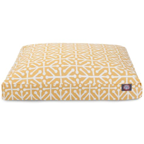 Majestic Pet Citrus Aruba Shredded Memory Foam Rectangle Dog Bed
