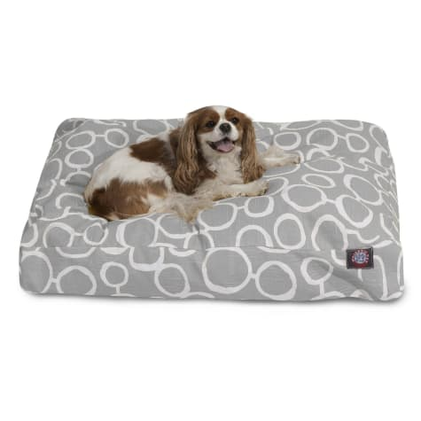 Majestic Pet Gray Fusion Shredded Memory Foam Rectangle Dog Bed