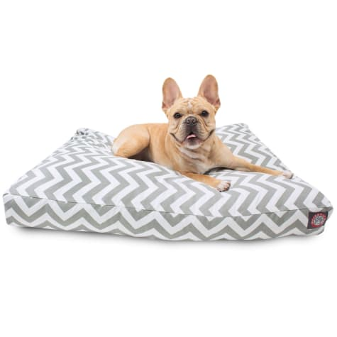 Majestic Pet Gray Chevron Rectangle Pet Bed