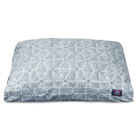 Majestic Pet Gray Charlie Shredded Memory Foam Rectangle Dog Bed