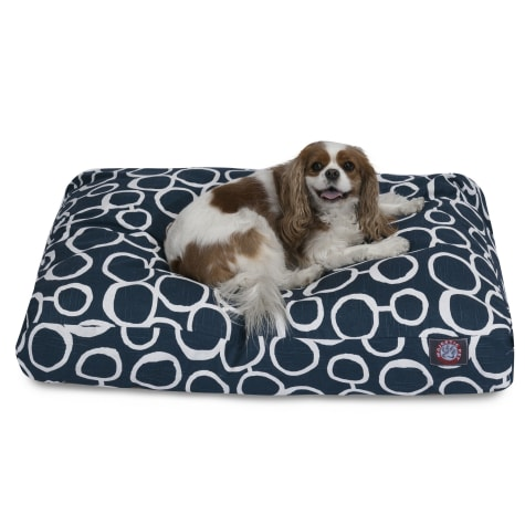 Majestic Pet Fusion Navy Rectangle Pet Bed