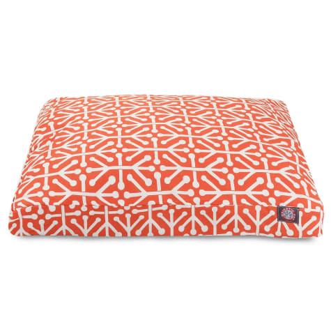 Majestic Pet Orange Aruba Shredded Memory Foam Rectangle Dog Bed
