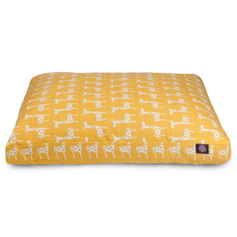 Majestic Pet Yellow Stretch Shredded Memory Foam Rectangle Dog Bed