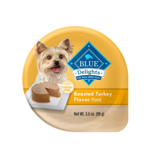 Blue Buffalo Blue Life Protection Delights Small Breed Roasted Turkey Flavor in Savory Juice Wet Dog Food