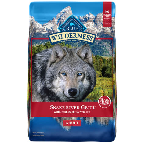Blue Buffalo Blue Wilderness Snake River Grill Adult Trout, Venison & Rabbit Recipe Dry Dog Food