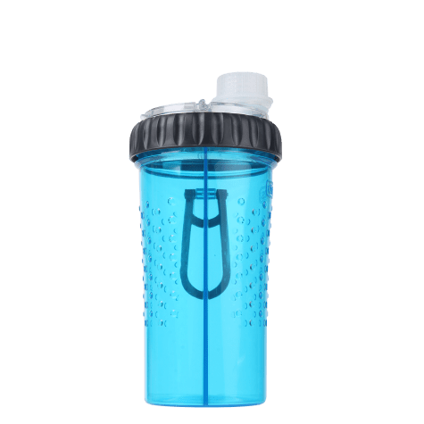 Dexas Snack-Duo Dual-Chamber Pet Bottle in Blue