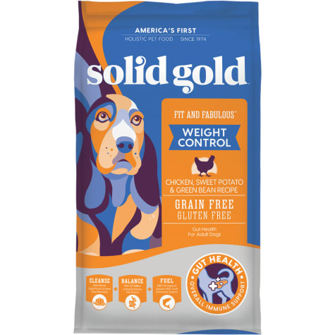 Solid Gold Fit & Fabulous Chicken, Sweet Potato & Green Bean Weight Control Grain Free Adult Dog Food with Superfoods