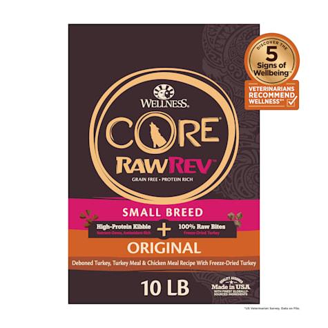 Wellness CORE RawRev Natural Grain Free Original Turkey & Chicken w/ Freeze Dried Turkey Small Breed Dry Dog Food