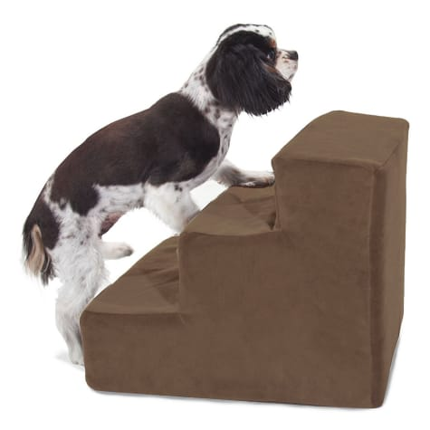 Majestic Pet Products 3-Step Chocolate Suede Pet Stairs