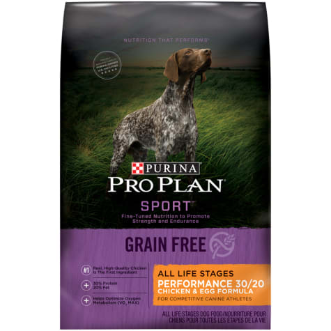 Purina Pro Plan Grain Free, High Protein Sport Performance 30/20 Chicken & Egg Formula Dry Dog Food