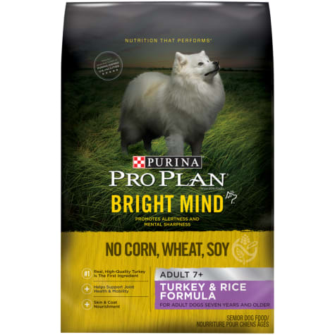 Purina Pro Plan Bright Mind Turkey & Rice Formula Senior Dry Dog Food