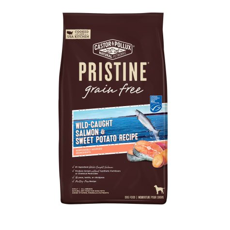 Castor & Pollux Pristine Grain Free Wild-Caught Salmon and Chickpea Recipe Dry Dog Food