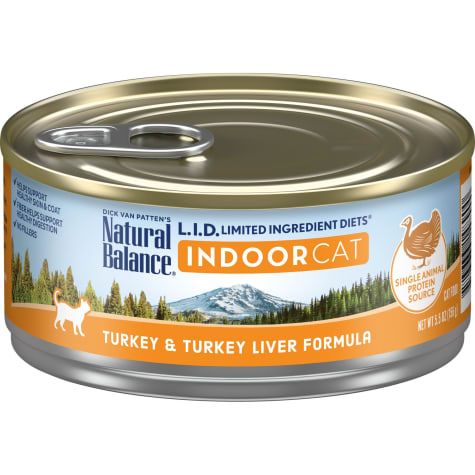 Natural Balance L.I.D. Limited Ingredient Diets For Indoor Cats, Turkey & Turkey Liver Formula Wet Cat Food