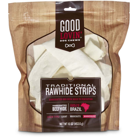 Good Lovin' Traditional Rawhide Strip Dog Chews