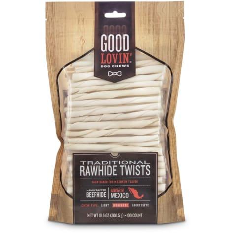Good Lovin' Traditional Rawhide Twist Dog Chews