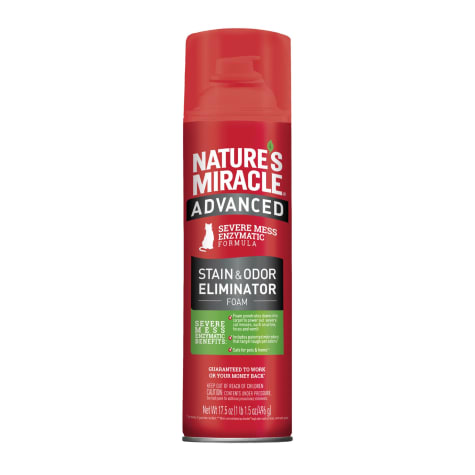 Nature's Miracle Advanced Stain and Odor Eliminator Foam For Severe Cat Messes Aerosol