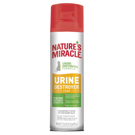 Nature's Miracle Urine Destroyer Foam Cat For Tough Urine Messes Aerosol