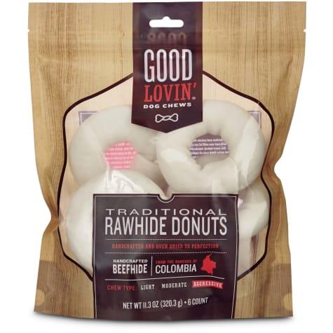 Good Lovin' Traditional Rawhide Donut Dog Chews