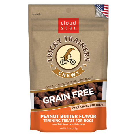 Cloud Star Chewy Tricky Trainers Grain Free Peanut Butter Dog Treats
