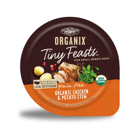 Castor & Pollux Organix Grain Free Tiny Feasts Organic Chicken & Potato Canned Dog Food