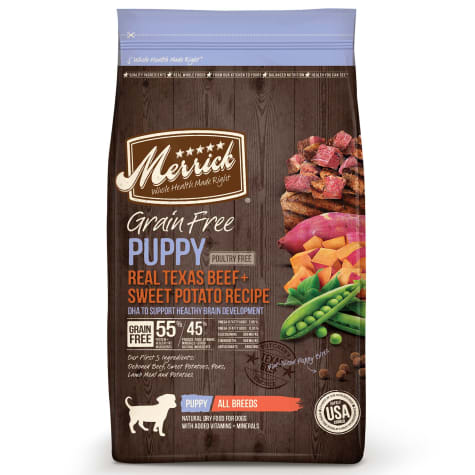 Merrick Grain Free Real Texas Beef + Sweet Potato Puppy Food