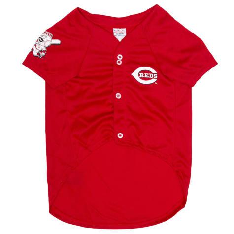Pets First Official MLB Cincinnati Reds Mesh Jersey