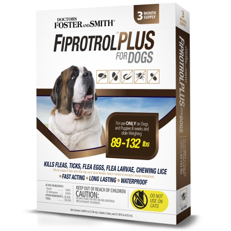 Doctors Foster + Smith Fiprotrol Topical Flea & Tick Control For Dogs 89 to 132 lbs.