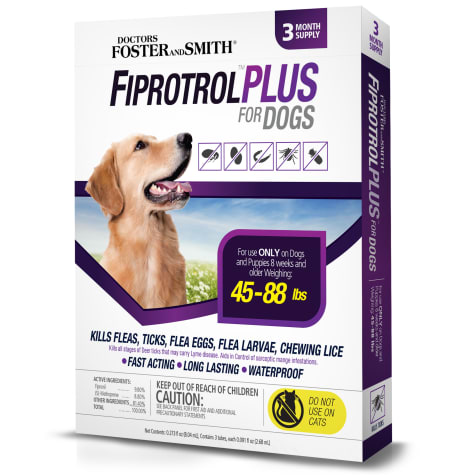 Doctors Foster + Smith Fiprotrol Topical Flea & Tick Control For Dogs 45 to 88 lbs.