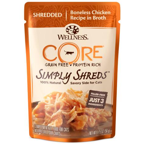 Wellness CORE Simply Shreds Natural Grain Free Wild Salmon & Tuna Wet Cat Food Topper