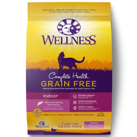 Wellness Complete Health Natural Grain Free Indoor, Salmon & Herring Dry Cat Food