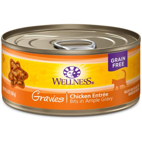 Wellness Natural Canned Grain Free Gravies Chicken Dinner Wet Cat Food